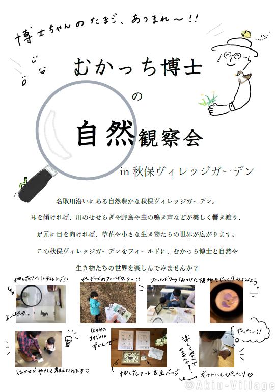 【むかっち博士の自然観察会】開催します!